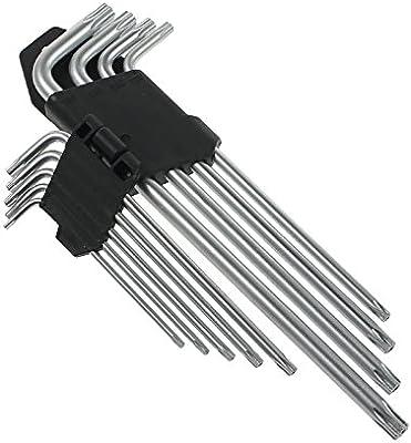 Torx Key Set Long Pattern Expert 9 PCS Metric Star Torx Key Set T10 T15 T20 T25 T27 T30 T40 T45 T50