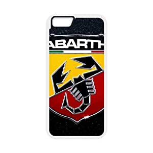 Durable Protector Cases Covers With Abarth Logo Hot Design,TPU Phone case for iphone6 4.7 inch,white