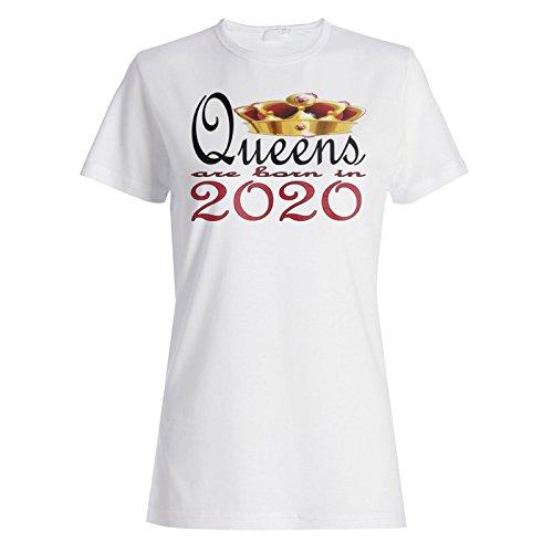 Neue Art Design Königinnen sind im Jahr 2020 geboren Damen T-shirt b756f