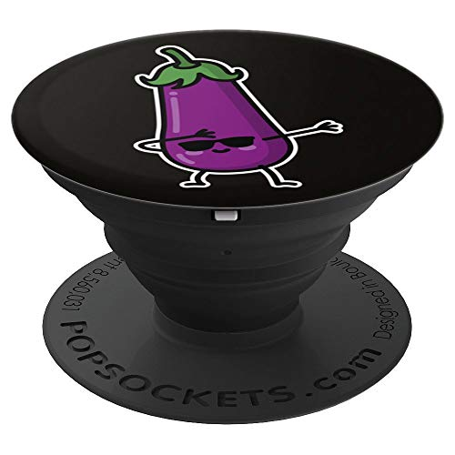 Dab dabbing eggplant adult sexting couples Japanese Kawaii PopSockets Grip and Stand for Phones and Tablets -