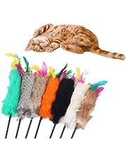 Brinquedo Varinha para Gato com Bolinha Peludinha e Penas