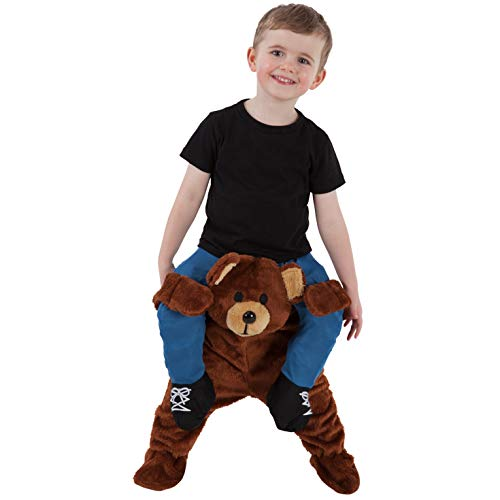 Toddler Piggyback Teddy Bear Costume Ride On Childs Illusion Carry Me Dress Up ()