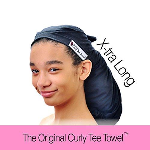 Сушка Окончательный волос Полотенце Wrap - Оригинальный Curly Tee полотенце - лучше, чем из микрофибры и ткани Терри - получить красивые здоровые волосы в качестве лишь 7 дней - не повредит ваши волосы как и другие продукты - Устраняет Разглаживающий - Ve