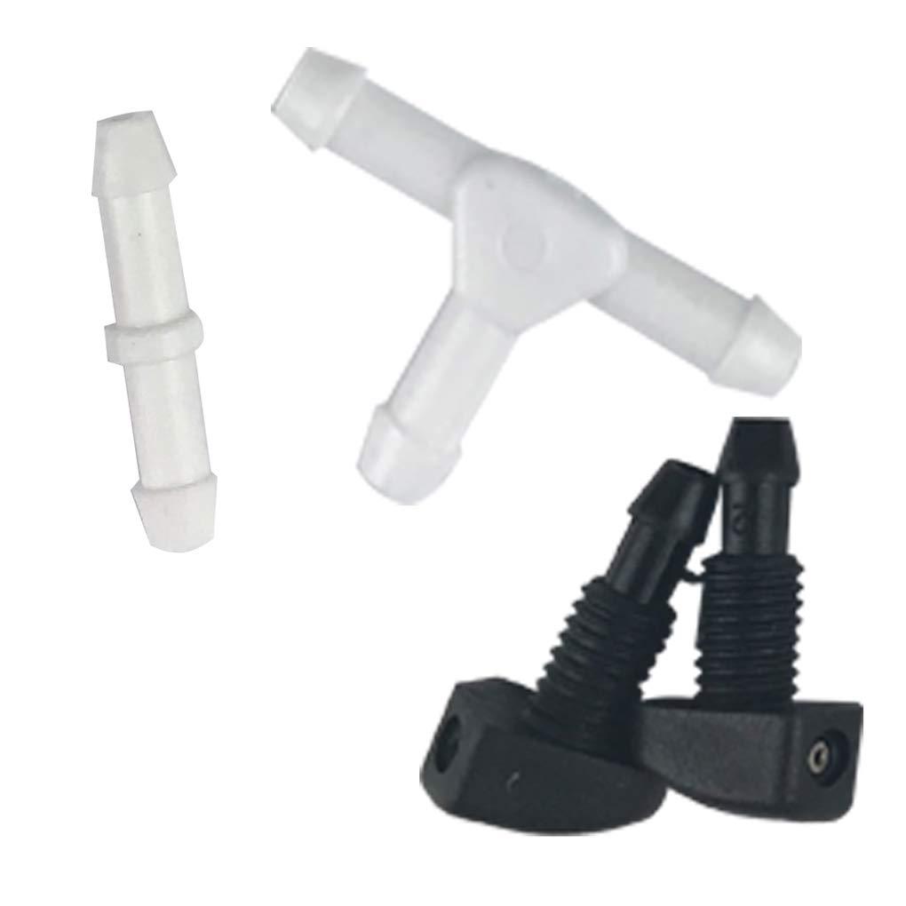 12V Universal del Parabrisas del Coche Kit Lavadora Botella Jet Pump Interruptor de bot/ón Herramientas de Limpieza de Repuesto para Escarabajo