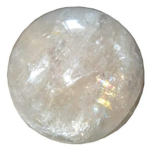 Crystal Cave Satyaloka Azeztulite Quartz Crystal Ball/Sphere 280 Gram Record Keeper Synergy 12 Stones Altar Stone Rainbow Quartz RARE