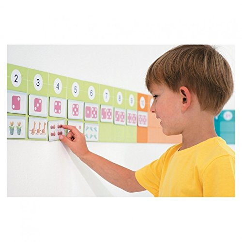 Nathan 388067 Magnetic Number Line, Multi Color