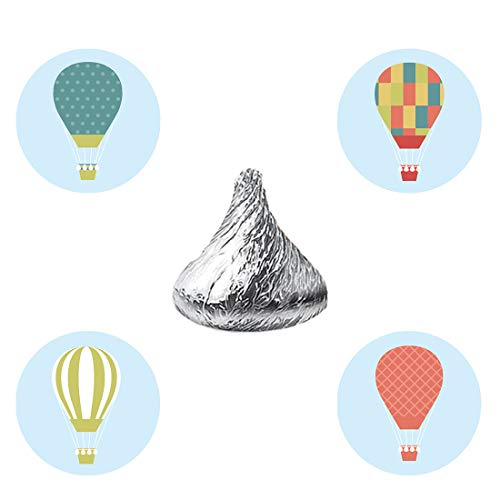 MAGJUCHE Hot Air Balloon Candy Stickers, Wedding, Bridal Shower, Birthday Baby Shower Party Favor Labels, Fit Hershey's Kisses, 304 Count