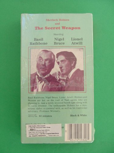 Sherlock Holmes and The Secret Weapon VHS