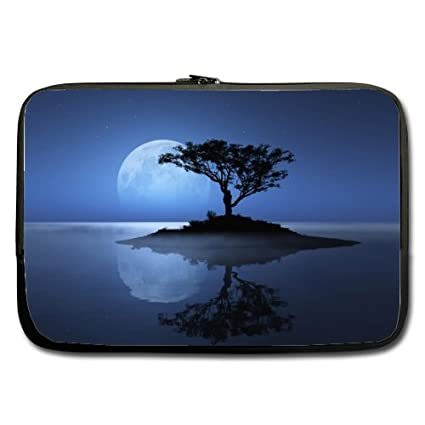 7327dd173733 Amazon.com: Cheap And Nice 15.6 Inch Laptop Sleeve Moon And Tree ...
