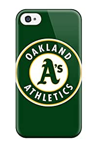 Top Quality Case Cover For Iphone 4/4s Case With Nice Oakland A??s Appearance