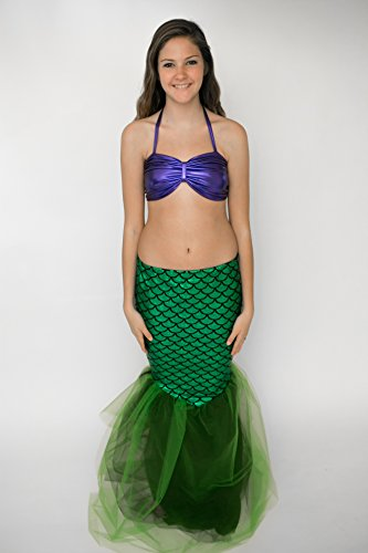 [Mermaid Halloween Costume (Girls 16, Ariel Look)] (Ariel Tail Costumes)