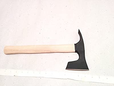 Small Bearded Hatchet / Axe / Axt with Adze Blade Bushcraft - Steel 4150 from mapsyst
