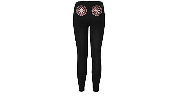 b5d9e63e5e1a5 Viking Shield Maiden Chaos Symbol Womens Leggings Black X-LG: Amazon.ca:  Clothing & Accessories