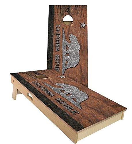 低価格の Skip's Garage カリフォルニア州 素朴な州旗 コーンホールボードセット - Skip's Filled サイズとアクセサリーをお選びください Boards - ボード2枚、バッグ8枚など B07N4BJ88L A. 2x3 Boards (Corn Filled Bags)|B.付属品 (1) ブラック 持ち運び用/収納ケース A. 2x3 Boards (Corn Filled Bags), ジャパン インデックス:88338652 --- staging.aidandore.com