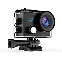 DBPOWER DB0923 N5 4K Action Camera, 5X Zoom HD 20MP Sony Sensor Sports Camera, EIS Wi-Fi Underwater Camera With 170° Wide-Angle Lens Including 2 Rechargeable Batteries And 17 Accessories Kit