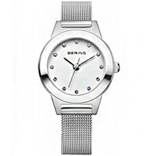 BERING Time 11125-000 Womens Classic Collection Watch with Mesh Band and scratch resistant sapphire crystal. Designed in Denmark.