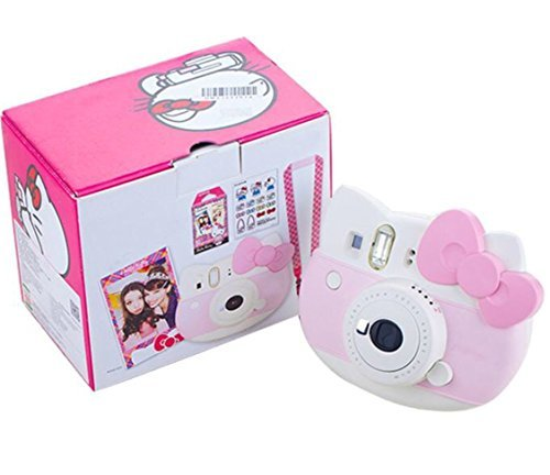 "Fujifilm Instax Mini ""Hello Kitty"" Instant Camera Set! with Instax Mini Film, Twin Pack (20 Shoots) + Hello Kitty Film (10 Shoots) + Shoulder Strap + Stickers"