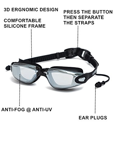 852061271a HAIREALM Prescription Swimming Goggles(Myopia 0-8.0 Diopters)