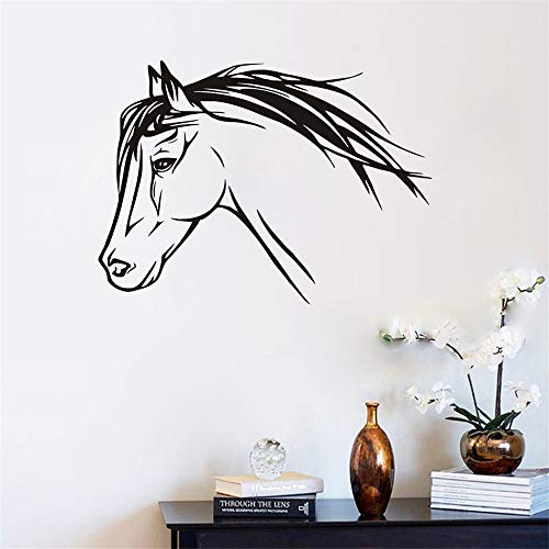 lanken Vinly Art Decal Words Quotes Nice Horse Silhouette Animals Decorations for Living Room Home Stickers Decorative]()