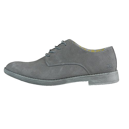 Dude Shoes Men's Volterra Suede Fume Derby Shoe Grey