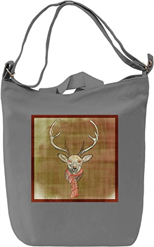 Winter Deer Borsa Giornaliera Canvas Canvas Day Bag| 100% Premium Cotton Canvas| DTG Printing|