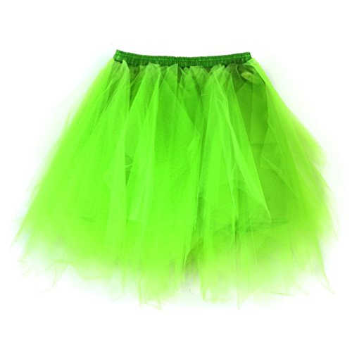 Lotus.flower Women 1950s Candy Color Pleated Tutu Ballet Skirts Fancy Carnival Feast Dress Up (Mint Green)