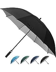 Prospo 62/68 Inch Golf Umbrella UV Protection Extra Large Windproof Oversized Stick Vented Sun Rain Umbrella Auto Open Double Canopy Waterproof for Men Women