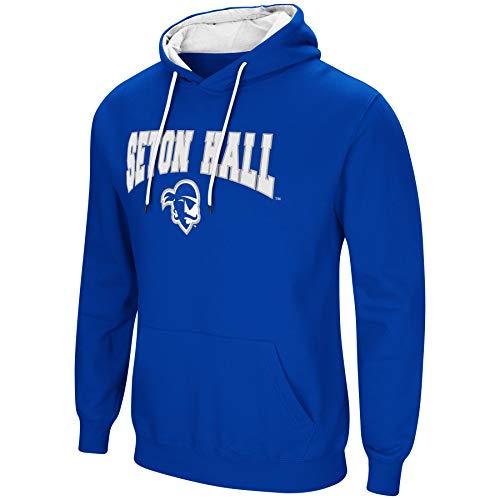 Colosseum NCAA Men's-Cold Streak-Hoody Pullover Sweatshirt with Tackle Twill-Seton Hall -