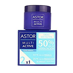 Astor - Crema multiactiva, tarro 50 ml, piel normal, 2x1