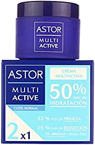 Astor - Crema multiactiva, tarro 50 ml, piel normal, 2x1
