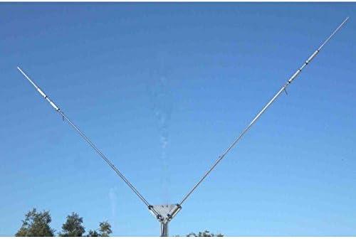Dipolo multibanda 12 m-17 m y 40 m, Configuración a V pst ...