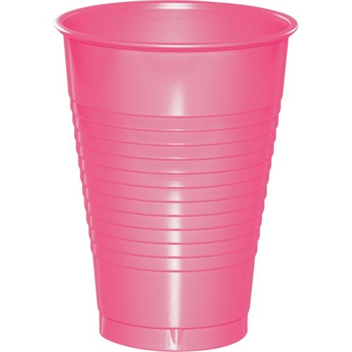 Candy Pink Plastic Cups 12oz Solid 240ct