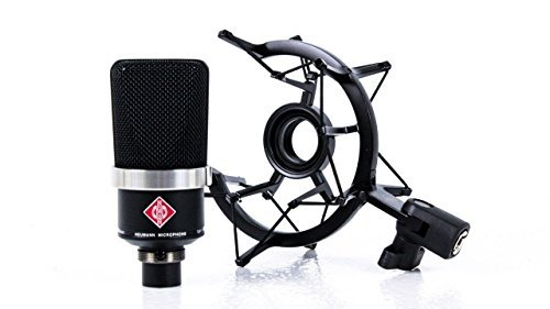 Neumann TLM 102 Black Cardioid Condenser Microphone Studio Set w/ Shock Mount MT by Neumann
