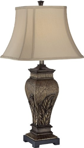 Lite Source C41225 Table Lamp with Tan Fabric Shades, Bronze (Lite Source Bronze Ceiling Lamp)