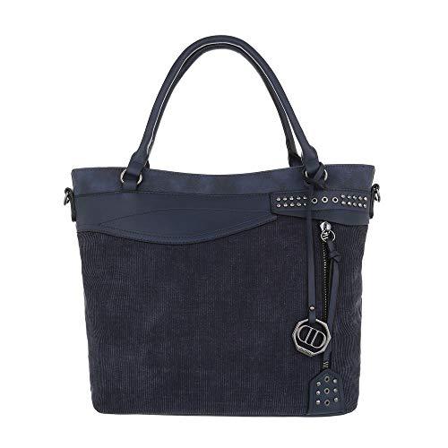 Bleu L'épaule Sac À Foncé Femme Pour design Ital Porter 0wqUHH