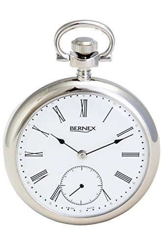 BN22211 – Rhodium Plated – Open Face – Mechanical Movement – Roman Dial – White Dial