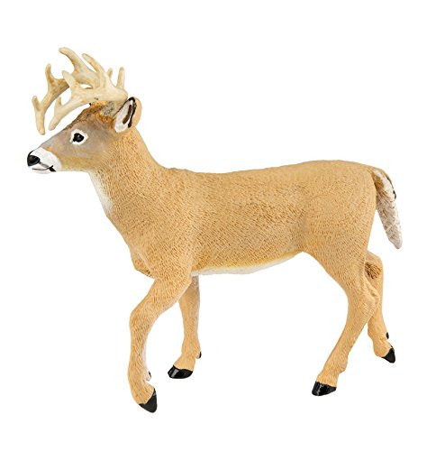 Safari Ltd. Whitetail Buck XL Realistic Hand Painted Toy Figurine Model, Quality Construction from Phthalate, Lead and BPA Free Materials, for Ages 3 and Up