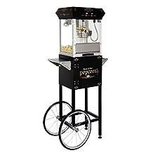 BULLSEYE 4oz Popcorn Machine with Cart BLACK