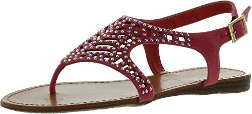 Steno Sandals Bamboo Crystal Pretty Iks Slingback 87 Women Coral 4nY5wqYS1