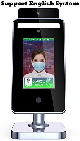 YUN Earth@ Not-Contact Physique Temperature Measure Show/Kiosk with Face Recognition and IR Thermal Scanner for Entrance and Exit of Workplace Constructing, Mall, Grocery store, Station, College[TP-1838]