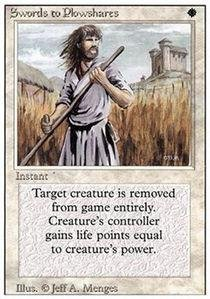 Magic: the Gathering - Swords to Plowshares - Revised Edition