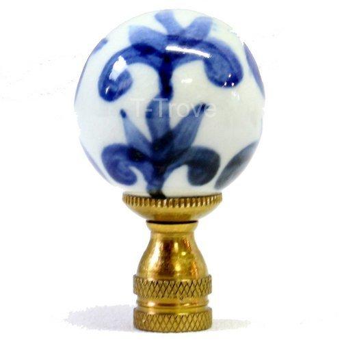 Porcelain Ball Finial - Blue and White Porcelain Ball Finial