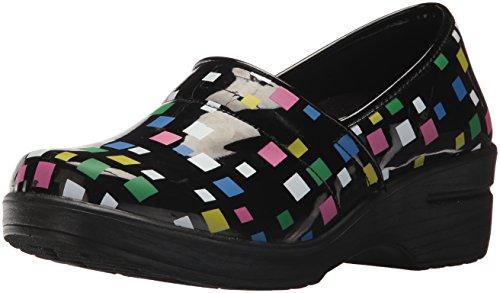Easy Works Women's Lyndee Health Care Professional Shoe, Black Mul SQ Print, 7.5 W US