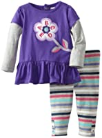 Watch Me Grow! by Sesame Street Baby-girls NB ABCDE Flower Dress and Legging