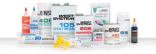 West System 105-B Epoxy Resin (.98 gal) with 205-B Fast Epoxy Hardener (.86 qt) and Mini Epoxy Metering Pump Set by WEST SYSTEM (Image #4)