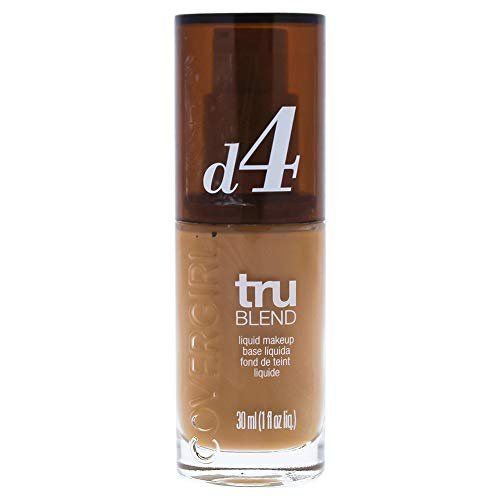 COVERGIRL truBlend Liquid Foundation Makeup Classic Tan D4, 1 oz (packaging may vary) Cover Girl Tan Liquid Foundation