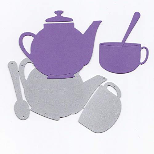Nesting Pots Flower (yangerous Teapot Metal Cutting Dies Stencil DIY Scrapbooking Album Stamp Paper Card Embossing Crafts Decor)