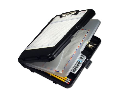 Saunders Black with Gray Hinges WorkMate II Plastic Storage Clipboard - Letter Size - 00552 (Clipboard With Storage)
