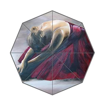 Flipped Summer Y Paraguas Acuarela Pintura de Bailes de Mujer Arte Personalizado Impresiones Paraguas