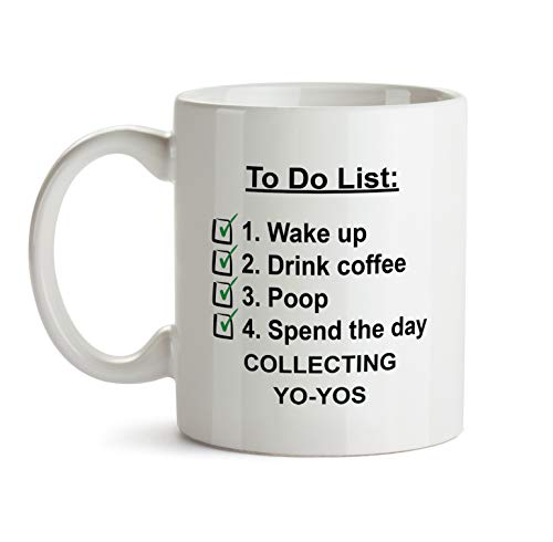 To Do Gift Mug - A44 Collecting Yo-Yos Check List Coffee Tea Gift Cup For Christmas - Funny Theme Themed Quote Saing I Love Present For Men Women Christmas (Christmas Yos Yo)